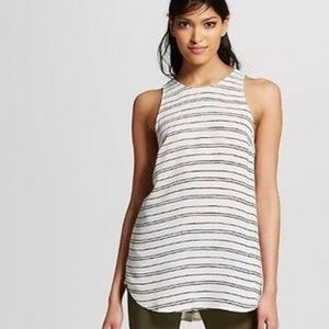 Who What Wear Striped Sleeveless Tank